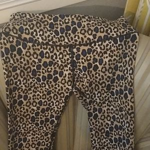 Victoria secret sport cheetah print workout set